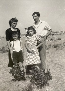 The immediate Babuin/Pancino Giulia and Enrico with their children Liliana and Mario, July 1949